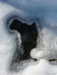 Ice Window to Lake Floor